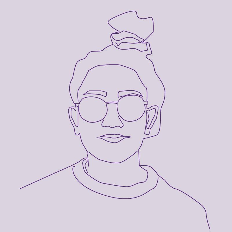 Girl Wearing Sunglasses illustration